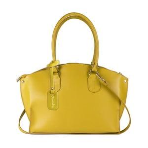 Žlutá kožená kabelka Maison Bag Mary