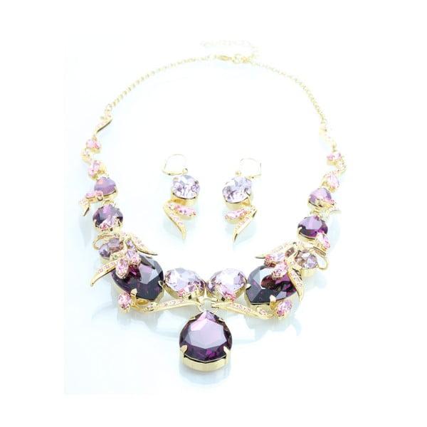 Set náušnic a náhrdelníku se Swarovski Elements Laura Bruni Pearl