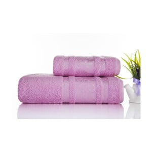 Sada 2ks ručníků Carmen Pink, 50x90 a 70x140 cm