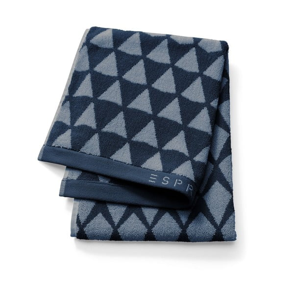 Tmavě modrý vzorovaný ručník Esprit Mina, 50x100cm
