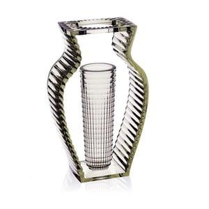 Zelená transparentní váza Kartell I Shine