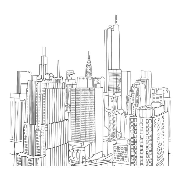Povlak na peřinu My City, 220x220 cm