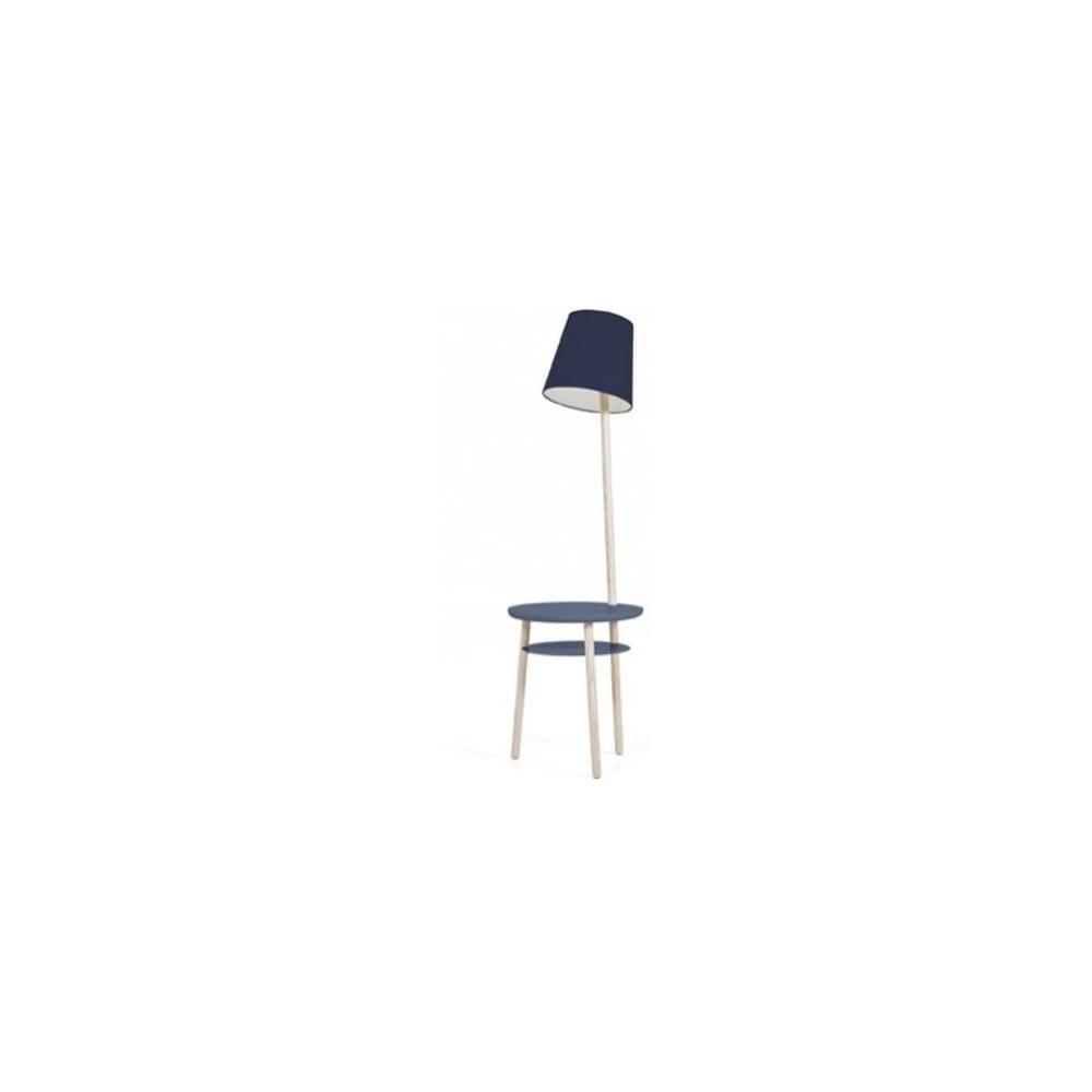 Tmavě modrá stolní lampa z jasanového dřeva HARTÔ Josette