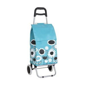 Nákupní taška na kolečkách Flowers Blue