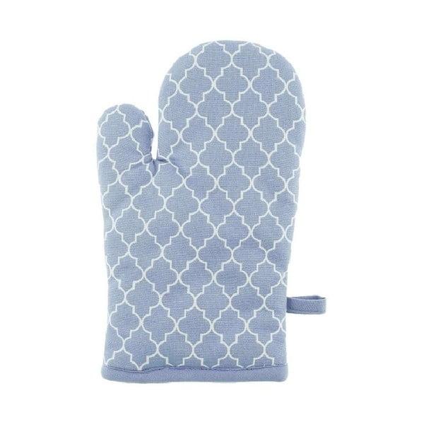 Jasnoniebieska bawełniana rękawica kuchenna Tiseco Home Studio Arabesk