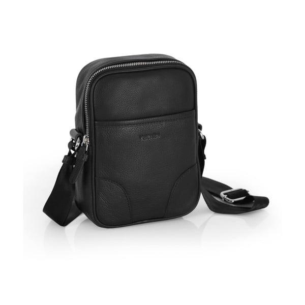 Kožená taška přes rameno Valentini 522, černá