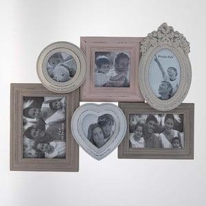 Fotorámeček Cream na 6 fotografií, 52x39 cm