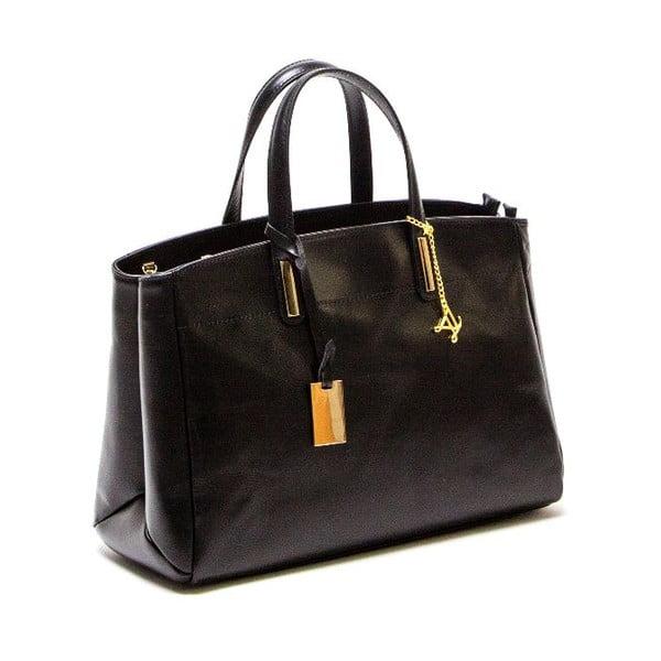 Kožená kabelka Luisa Vannini 380, černá