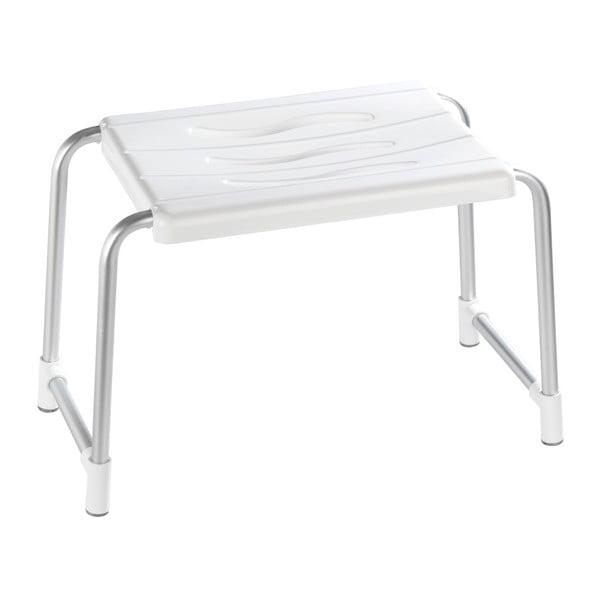 Wąski stołek pod prysznic dla osób starszych Wenko Secura, 26x50 cm