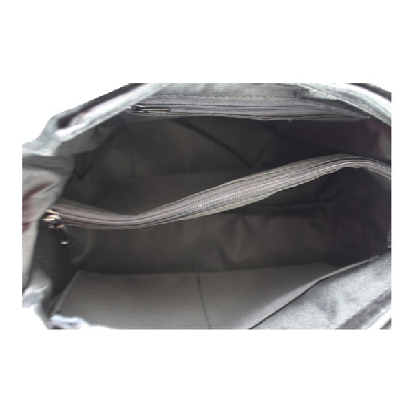 Černá kožená kabelka Brandy