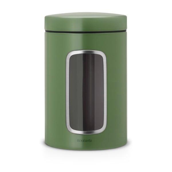 Zelená ocelová dóza Brabantia,1,4l