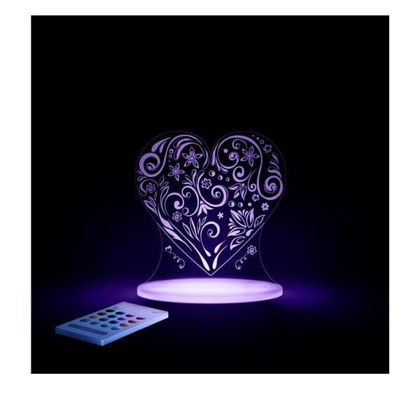 Dětské LED noční světýlko Aloka Loveheart