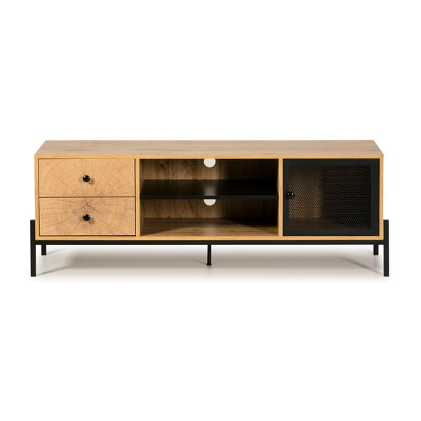 Andy barna TV-szekrény borovi fenyőből, szélesség 144 cm - Marckeric