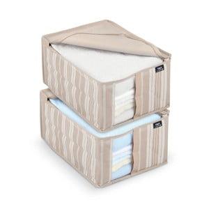 Sada 2 úložných boxů Domopak Stripes, 30x40cm