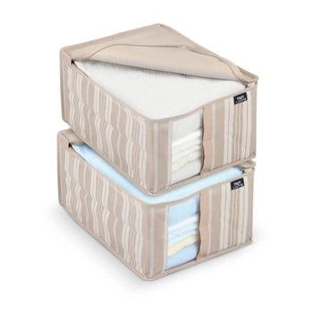 Set 2 cutii depozitare Domopak Stripes de la Domopak