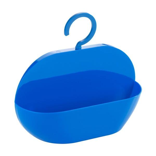 Modrá úložná závěsná kapsa do sprchy Wenko Cocktail