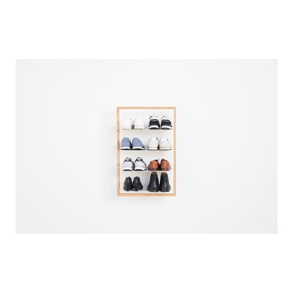 Police na boty z dubového dřeva das kleine b Basti, 51 x 79 cm