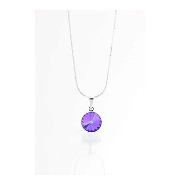 Fialový náhrdelník se Swarovski krystaly Yasmine Longie