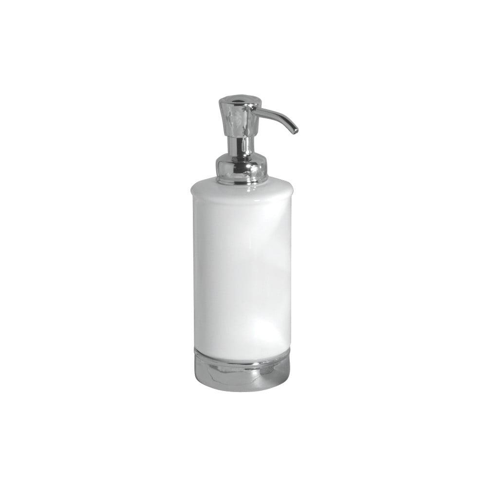 Bílý zásobník na mýdlo s pumpičkou InterDesign York