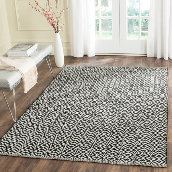 Černý koberec Safavieh Mirabella, 152x243cm