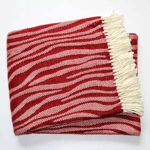 Deka Zebra Bordeaux Red, 140x180 cm