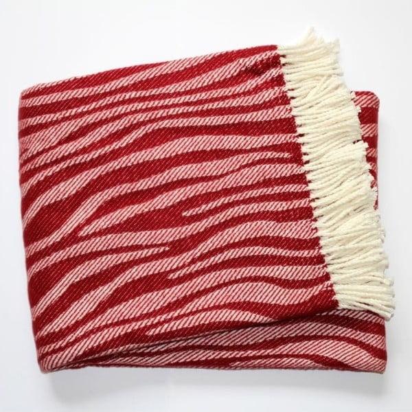 Deka Zebra Bordeaux Red, 140x180 cm
