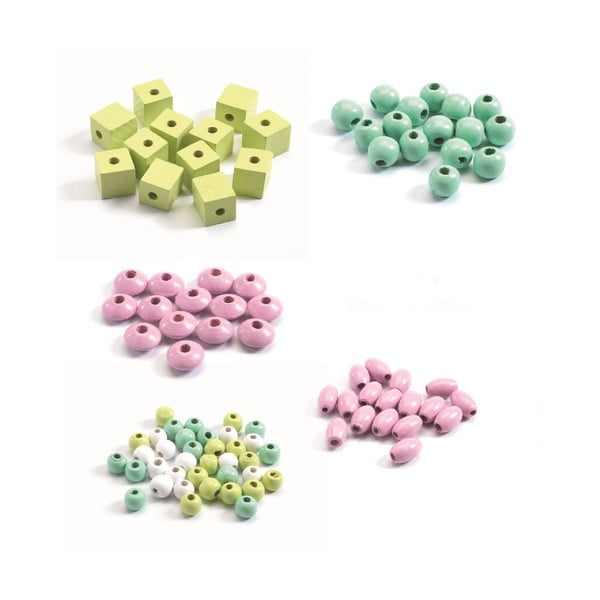"""Set creativ pentru confecționat bijuterii Djeco """"Flori pastelate"""""""