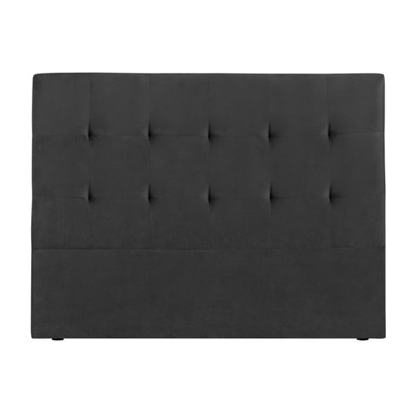 Tmavě šedé čelo postele Kooko Home Basso, 120 x 160 cm