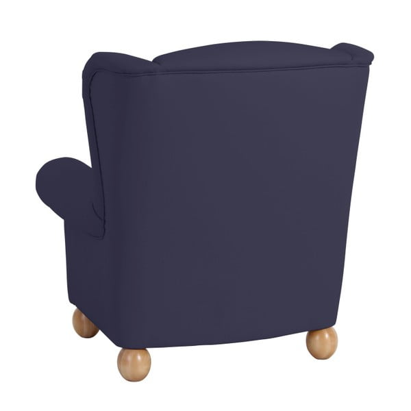Tmavě modré křeslo ušák Max Winzer Monarch Dark Blue