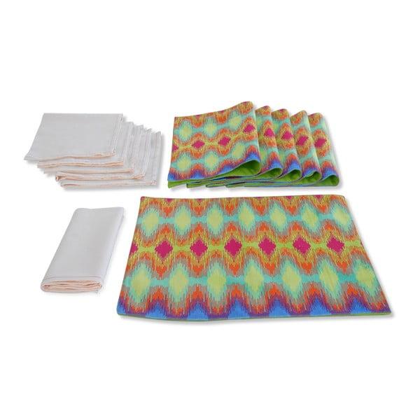 Textilní podložky a ubrousky Tamara Spectrum Ikat, 12 ks