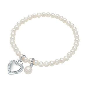 Brățară cu perlă albă ⌀8 mm Perldesse Poa, lungime17cm