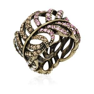 Prsten v bronzové barvě s krystaly Swarovski Saint Francis Crystals Celtic, vel.60