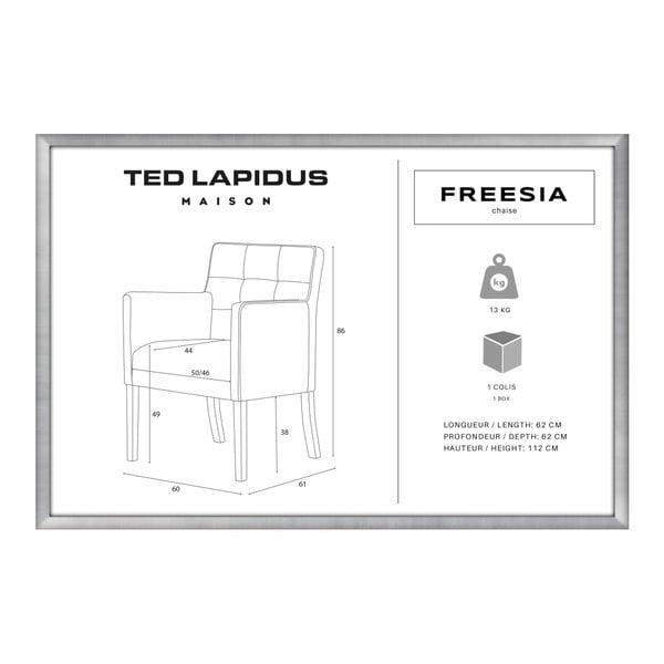 Scaun din lemn de fag Ted Lapidus Maison Freesia cu picioare negre, gri închis