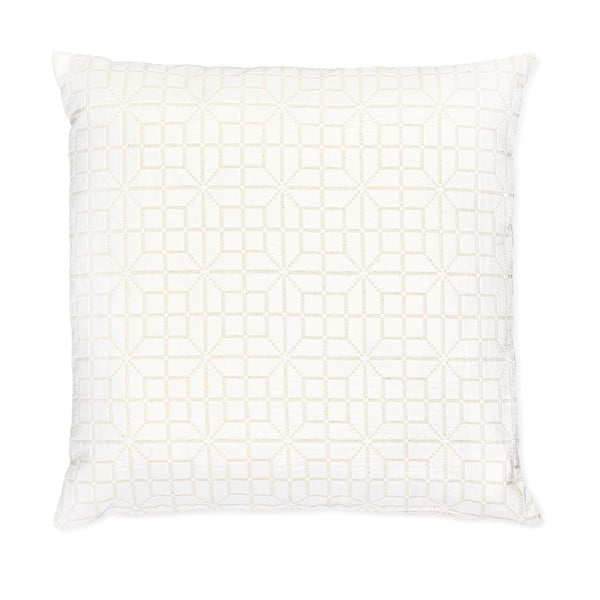 Bílý polštář Casa Di Bassi Whyte Pipi, 50 x 50 cm