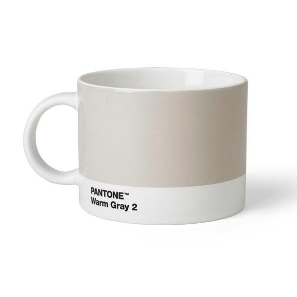 Cană pentru ceai Pantone Warm Gray 2, 475 ml, gri