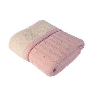 Růžová dětská deka Baby Ecru Leslie, 80 x 110 cm