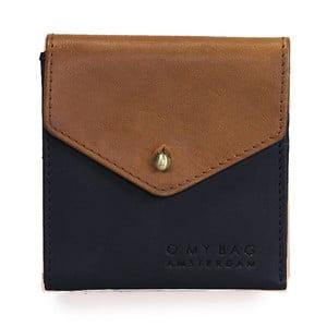 Portofel din piele O My Bag Georgies, maro-negru