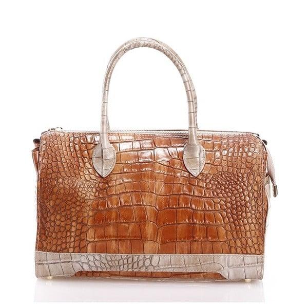 Kožená kabelka Livie, hnědá