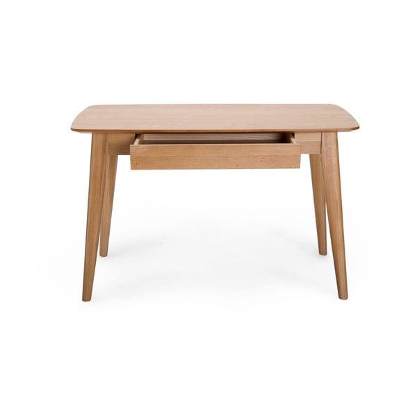 Písací stôl so zásuvkou a s nohami z dubového dreva Unique Furniture Rho