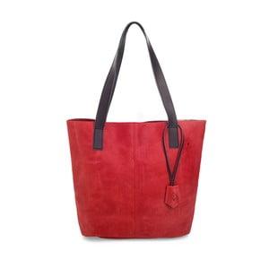 Červená kožená kabelka Woox Trogia Veneta
