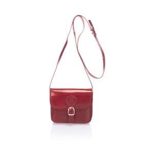 Geantă din piele Lisa Minardi Sobralia, roșu
