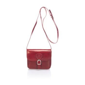 Geantă din piele Lisa Minardi Sobralia, roșu poza