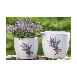 Set 2 ghivece din ceramică Boltze Lova, înălțime 12 / 14 cm