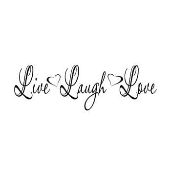 Autocolant din vinil pentru perete Live Laugh Love, 92 x 29 cm de la Pushy