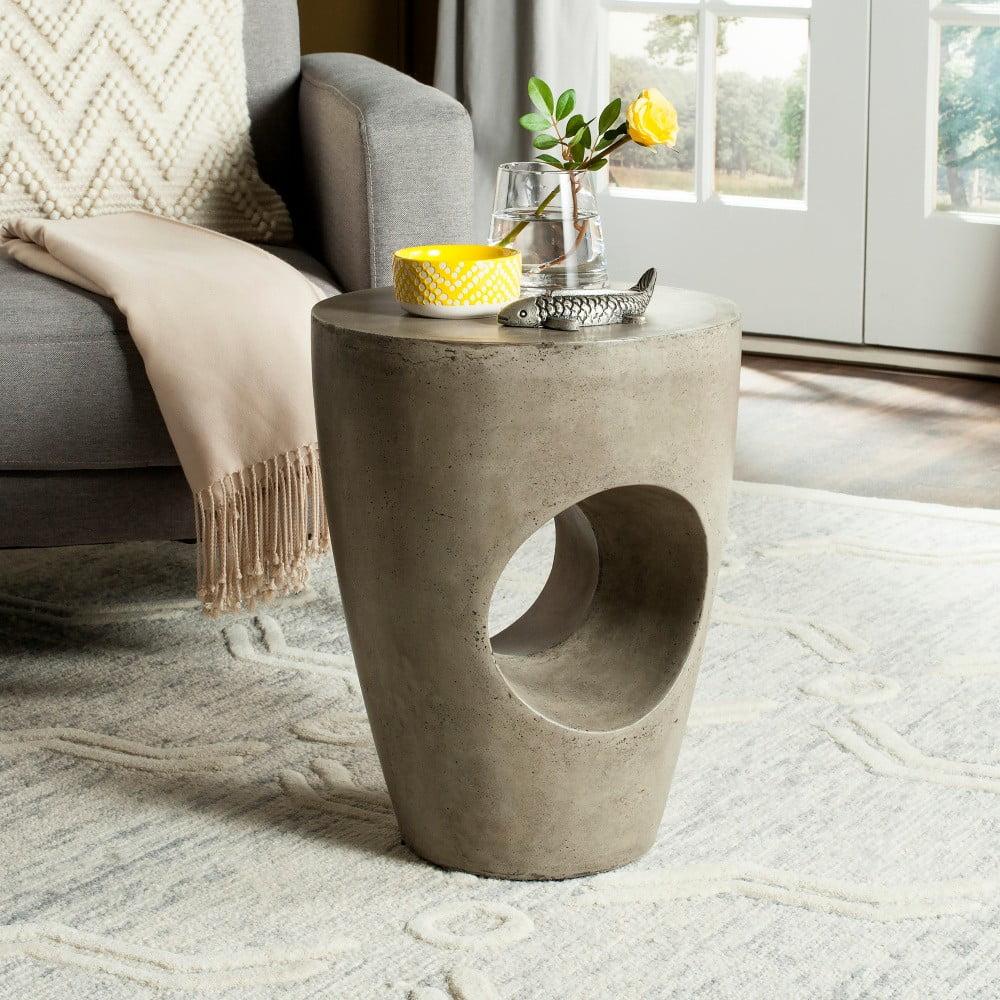 Betonový zahradní stolek vhodný do exteriéru Safavieh Trent