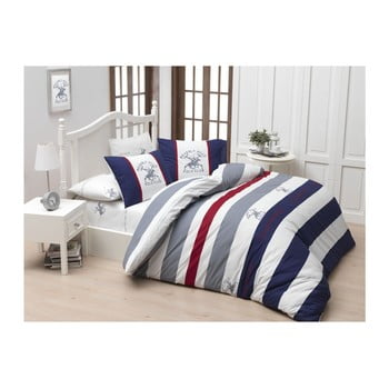 Lenjerie de pat cu cearșaf Beverly Hills Polo Club Barnett, 160 x 220 cm imagine