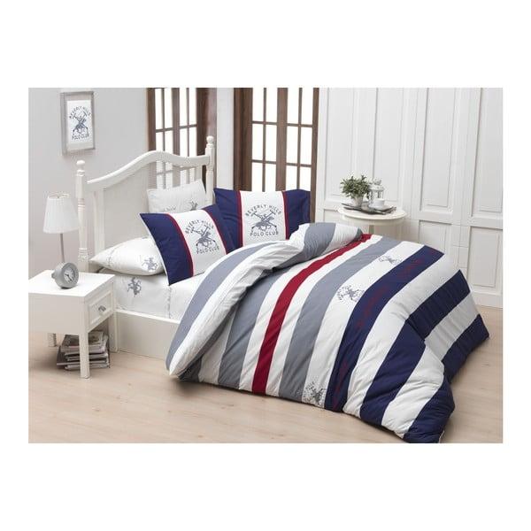 Lenjerie de pat cu cearșaf Beverly Hills Polo Club Barnett, 160 x 220 cm