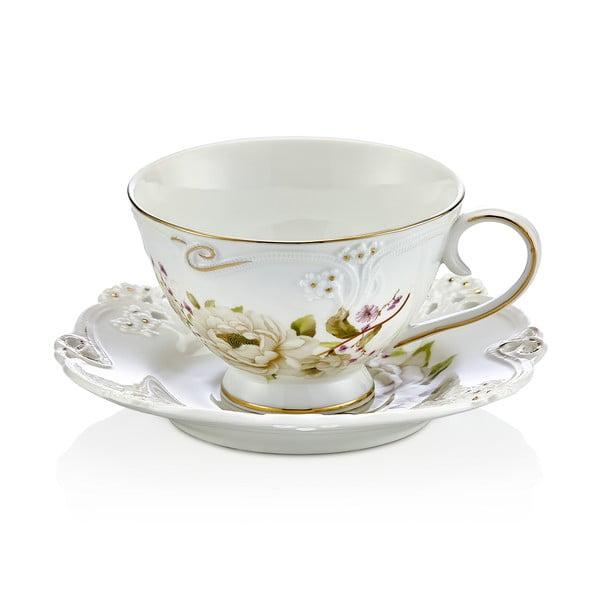 Franz 6 db-os porcelán csésze és csészealj készlet