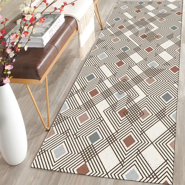 Covor Floorita Diamond Multi, 60 x 140 cm