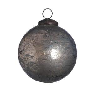 Set šesti skleněných ozdob, Artifact, 7 cm, kouřová